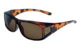 Fitover Overzetzonnebril Sonnenüberbrille Junior havanna