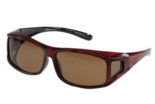 Fitover Overzetzonnebril Sonnenüberbrille Fitover Metallic red