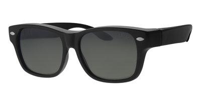 Fitover sunglasses New York black shiny (l/xl)