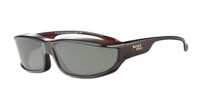 Fitover Overzetzonnebril Sonnenüberbrille 360 Brown