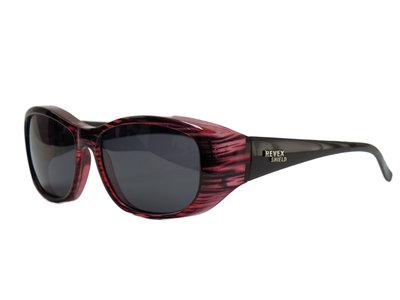 Fitover Overzetzonnebril Sonnen Überbrillen Shield Plus Red (model: POL500)